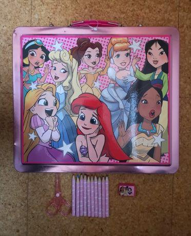Mala metalizada Princesas da Disney