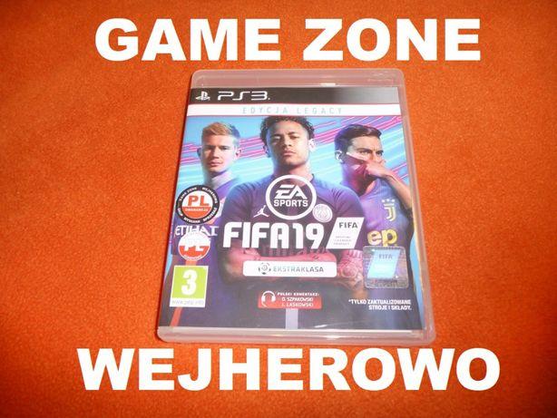 Fifa 19 PS3 + PS3 Slim = PŁYTA PL Wejherowo od ręki !
