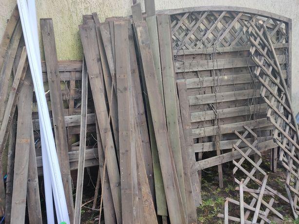 Drewno, do spalenia  do płotów ratanowych