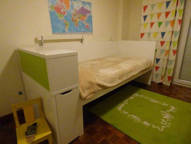 Cama individual + colchão