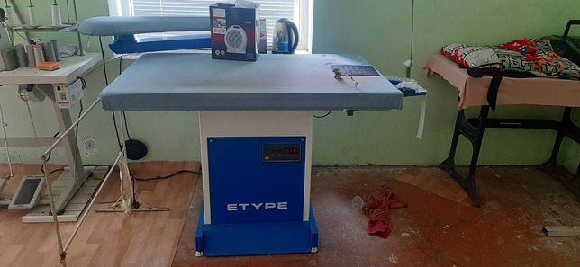 Продам промышленный утюжильный стол E-Type