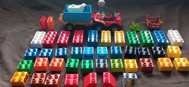 Sprzedam oryginalne klocki LEGO Duplo z quadem i przyczepą