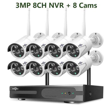 [NOVO] Sistema Vídeo Vigilância Wi-Fi [8 Câmeras 1080P 3 MP] CCTV