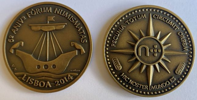 Numismatica - Medalha do 6º Encontro do Fórum dos Numismatas
