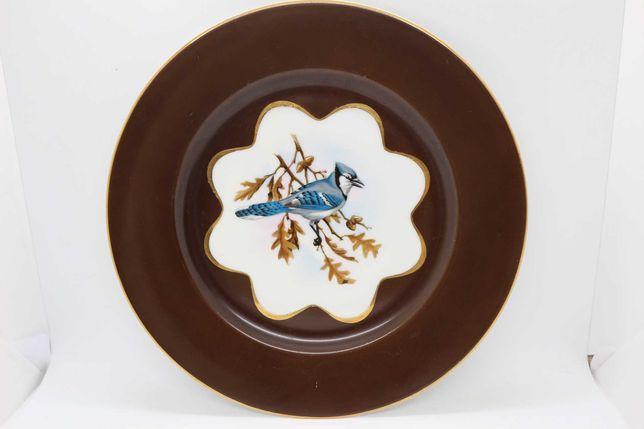 Prato 27cm Coleção Chocolate Vista Alegre Pássaro 1947 RARO
