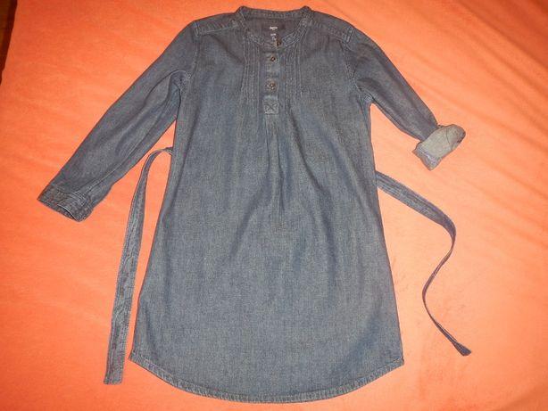джинсовое платье-рубашка Gap р.140см(10лет)