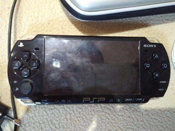 Psp usada com jogo e bolsa
