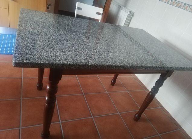Mesa cozinha c pedra mármore