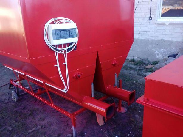 Zestaw hybrydowy na biomasę do suszarni 500kw