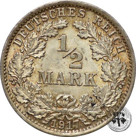 Niemcy 1/2 marki 1917 r. A (nr.2)