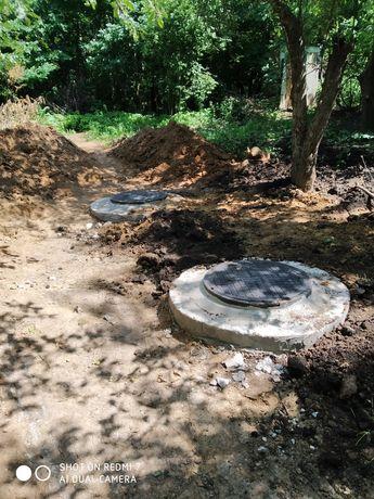 Строительство сливных/выгребных ям, доставка монтаж