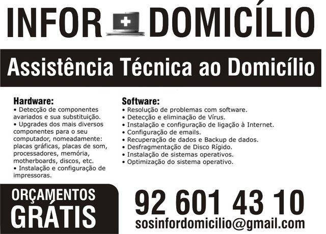 Assistência técnica de Informática ao domicilio - linha de cascais