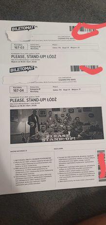 2 bilety obok siebie stand-up ŁÓDŹ
