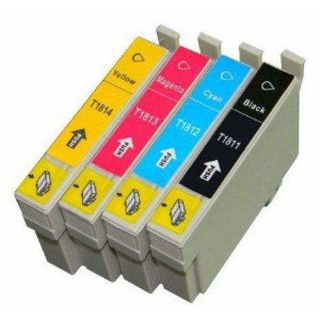 Pack 4 tinteiros Compatíveis Epson 1811/2/3/4