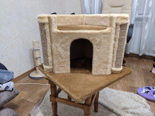 Когтеточка дряпка дом для кошки! Новый!