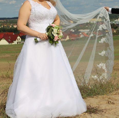 Suknia ślubna litera A gorset