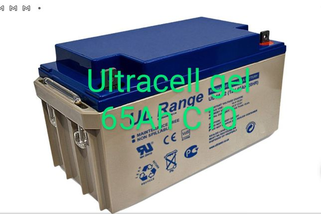 Bateria de Gel 65Ah Ultracell 12V Descarga Lenta Solar 65A
