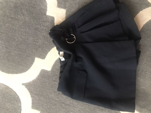 Spodnie szorty ZARA 140cm granat eleganckie