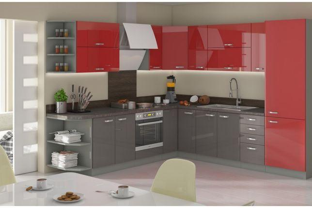 Kuchnia narożna , meble kuchenne połysk. 4 kolory dostawa w 24 godziny
