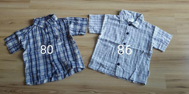 Koszule chłopięce z kr. rękawem 2 szt, rozm 80-86