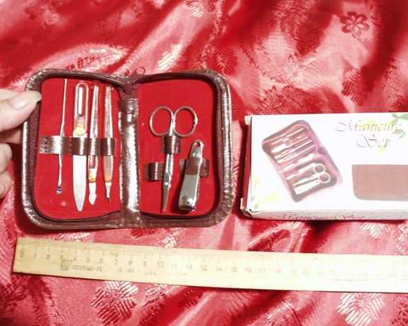 Набор для маникюра, компактный 6 предметов для домашнего использования