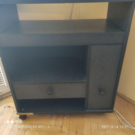 szafka rtv kolor czarny z szufladami