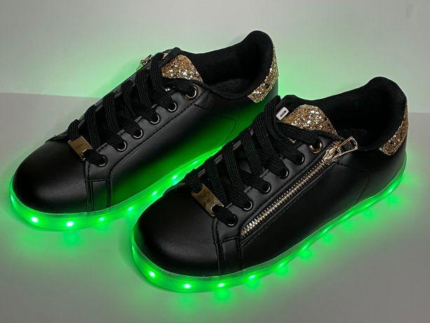 Unikatowe Buty LED podeszwa świecąca na 7 kolorów NOWE