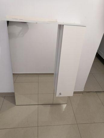 Lustro Łazienkowe z szafką, białe, okazja.