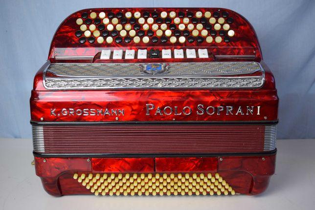 Acordeao Paolo Soprani 4 Voz 120 Baixos,N 208