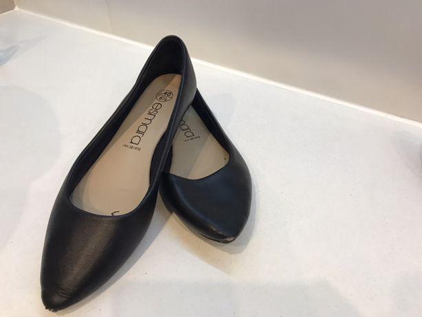 Buty balerinki czarne w szpic czubek Esmara 40