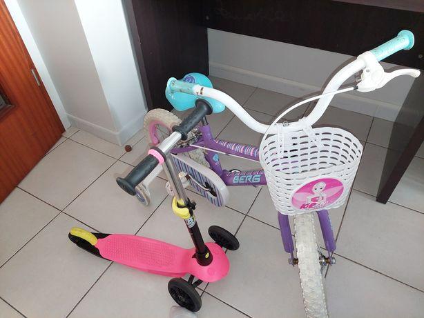 Bicicleta e trotineta