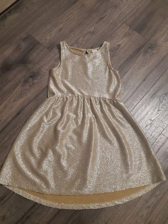 Sukienka Reserved 134 złota