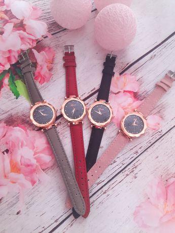 Zegarek damski brokatowa tarcza cyrkonie różne wzory i kolory
