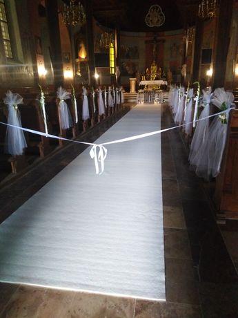 Biały dywan na ślub długi 25mb szeroki 1.6m