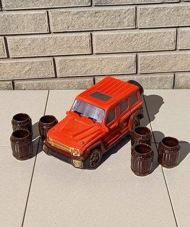 Подарочный набор Гелик с рюмками для спиртного мужчине, водителю, мужу