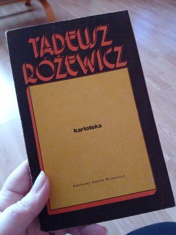 Kartoteka Tadeusz Różewicz stara książka 1961