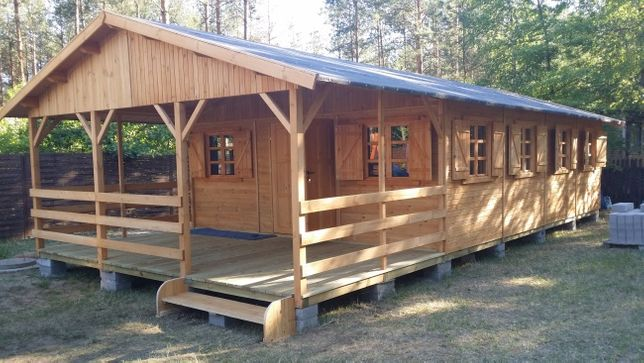domek drewniany działkowy letniskowy z drewna domy dom altanka WARBIT