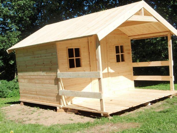 Domek drewniany z tarasem 4m x 3m