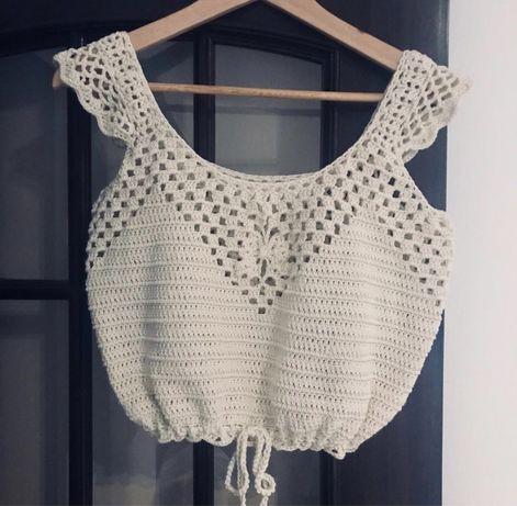 Top crochet super fresco e confortável