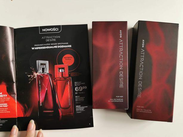 Attraction Desire prezent Walentynki Avon damski i męski zapach perfum