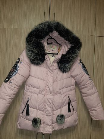 Куртка зимняя теплая размер s m 42 44