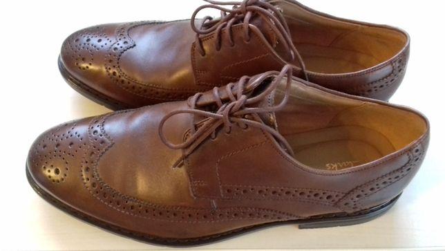Clarks buty skórzane brązowe typu Oxford
