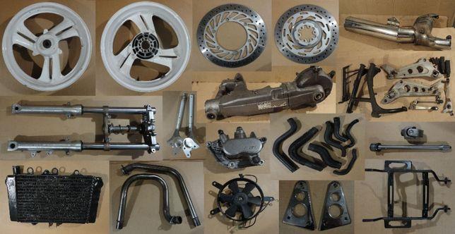 Honda ntv 650 радиатор клипон кардан редуктор подножки глушитель лапка