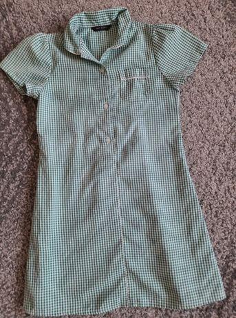Sukienka RETRO w kratkę AGE na dziewczynkę 110/116