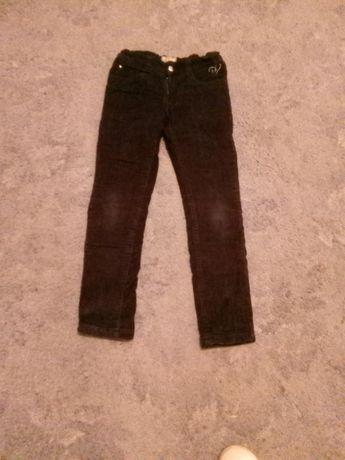 Spodnie ocieplane czarne dziewczęce