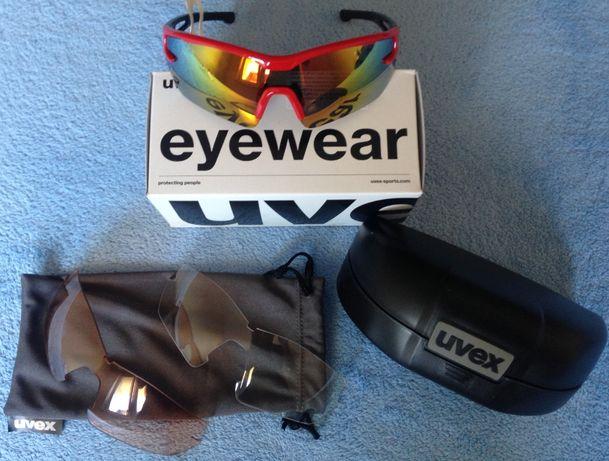 UVEX-okulary sportwowe - 3 wymienne szkła