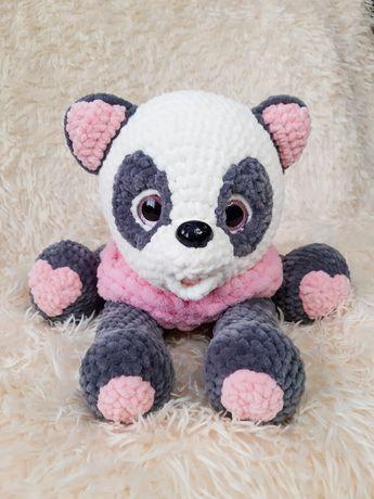 Вязанная игрушка Пижамница Панда, игрушка крючком