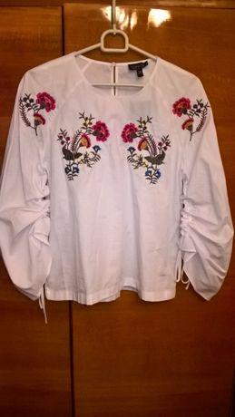 блузка, рубашка с вышивкой Topshop