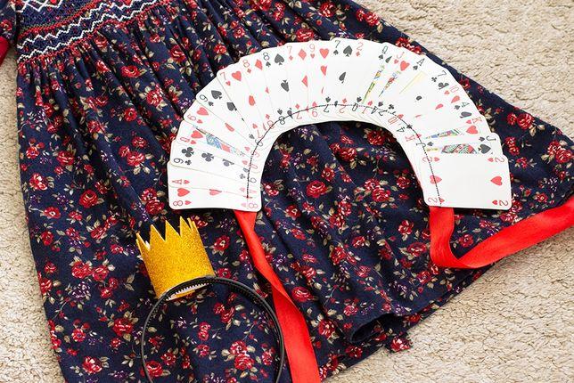 Królowa Kier - kostium na bal przebierańców, dziewczynka 4-6 lat