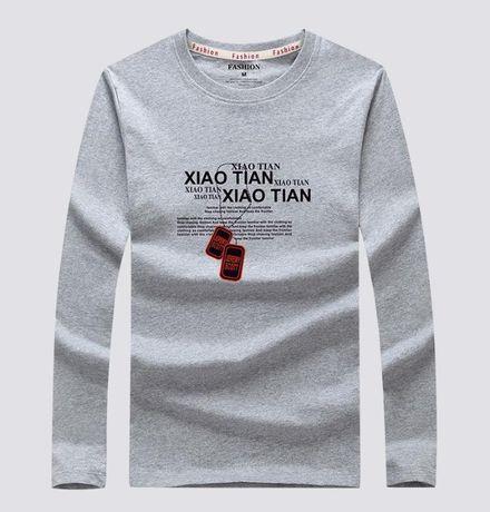 Хoрoший мужской реглан хлопок, T-Shirt с длинным рукавом - хлопок